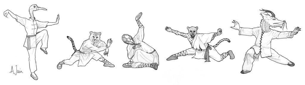style-kungfu-5-animaux
